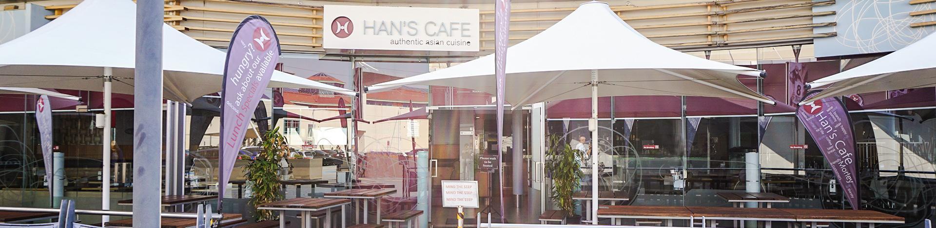 Hans Cafe Morley Takeaway Menu